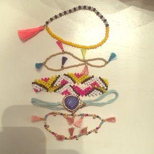 Bauble bar bracelet set